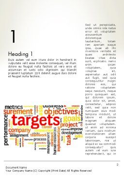 Business Targets Word Cloud Word Template, First Inner Page, 12840, Consulting — PoweredTemplate.com