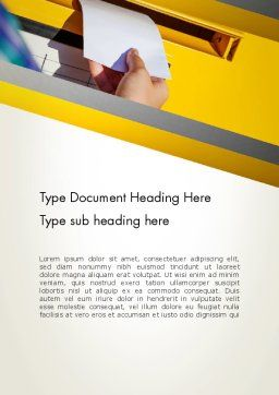 Sending Letter Word Template, Cover Page, 12841, Careers/Industry — PoweredTemplate.com