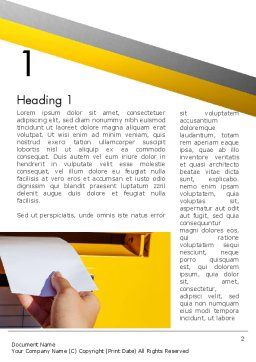 Sending Letter Word Template, First Inner Page, 12841, Careers/Industry — PoweredTemplate.com