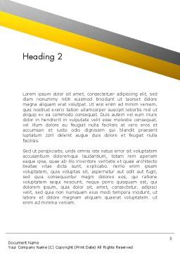 Sending Letter Word Template, Second Inner Page, 12841, Careers/Industry — PoweredTemplate.com