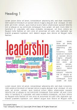 Leadership Management Word Cloud Word Template, First Inner Page, 12844, Education & Training — PoweredTemplate.com