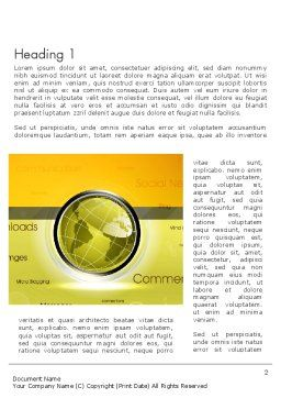 Globe with Internet Related Words Word Template, First Inner Page, 12845, Careers/Industry — PoweredTemplate.com