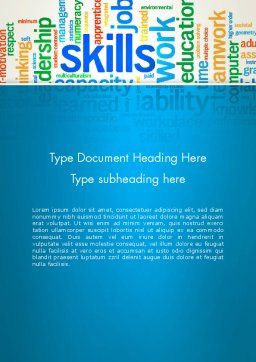 Human Resources Word Cloud Word Template Cover Page