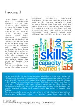 Human Resources Word Cloud Word Template First Inner Page