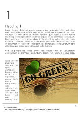 Go Green Word Template First Inner Page