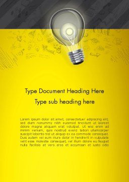 Developing Business Idea Word Template, Cover Page, 12852, Careers/Industry — PoweredTemplate.com