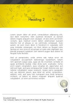 Developing Business Idea Word Template Second Inner Page