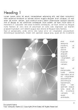 Network Sphere Word Template, First Inner Page, 12853, Technology, Science & Computers — PoweredTemplate.com