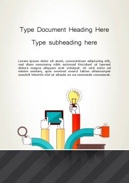 Creative Design Process Word Template, Cover Page, 12855, Careers/Industry — PoweredTemplate.com