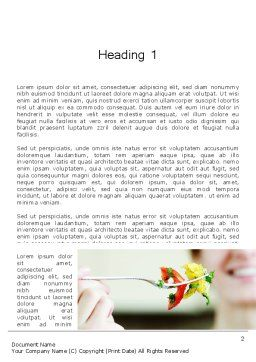 Becoming Vegetarian Word Template, First Inner Page, 12860, Food & Beverage — PoweredTemplate.com