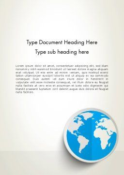 Globe in Flat Design Word Template Cover Page