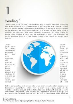 Globe in Flat Design Word Template First Inner Page