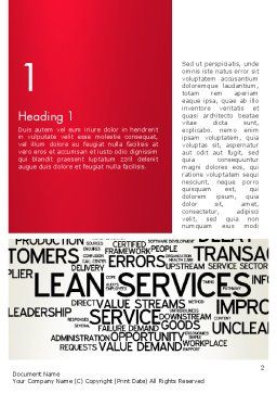 Lean Services Word Cloud Word Template First Inner Page