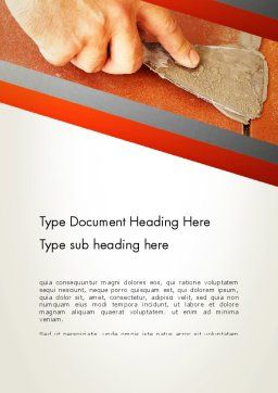 Putty Joints Word Template, Cover Page, 12867, Utilities/Industrial — PoweredTemplate.com
