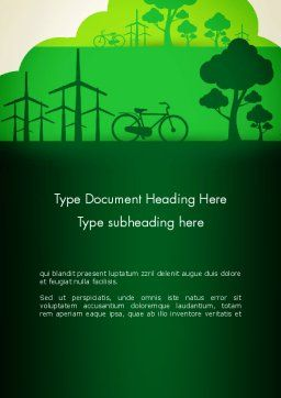Going Green Word Template Cover Page