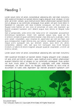Going Green Word Template First Inner Page