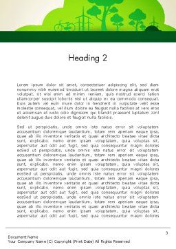 Going Green Word Template Second Inner Page