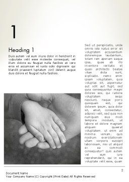 Supporting Hand Word Template, First Inner Page, 12870, Religious/Spiritual — PoweredTemplate.com