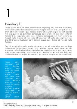 Air Cleaning Concept Word Template, First Inner Page, 12871, Nature & Environment — PoweredTemplate.com