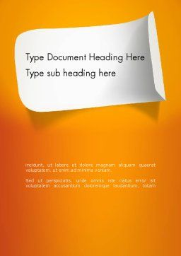 Sticker Word Template, Cover Page, 12872, Business — PoweredTemplate.com