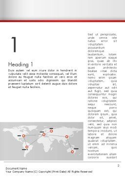 Company Branches Word Template, First Inner Page, 12873, Business Concepts — PoweredTemplate.com