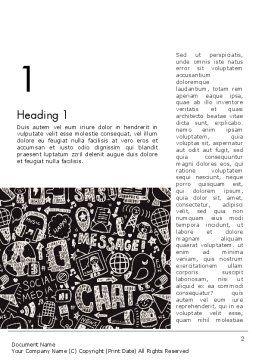 Message Doodles Word Template, First Inner Page, 12875, Telecommunication — PoweredTemplate.com