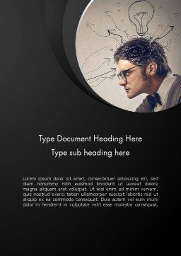 Intense Thought Process Word Template, Cover Page, 12876, Business Concepts — PoweredTemplate.com