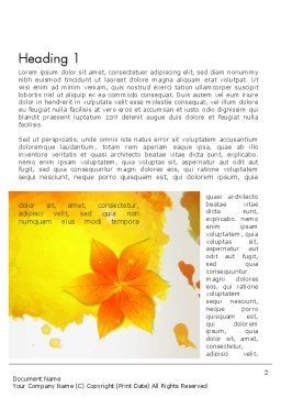 Ink Watercolor with Yellow Leaves Word Template First Inner Page