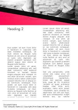 Dating Couple Word Template Second Inner Page