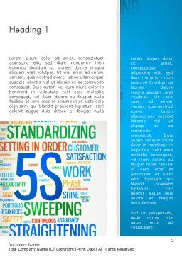 5S Word Cloud Word Template, First Inner Page, 12883, Careers/Industry — PoweredTemplate.com