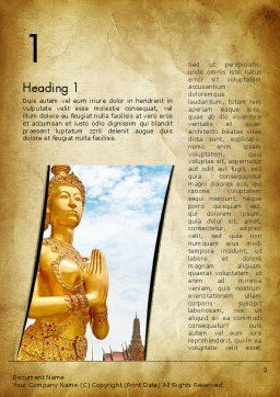 Temples in Bangkok Word Template, First Inner Page, 12886, Construction — PoweredTemplate.com