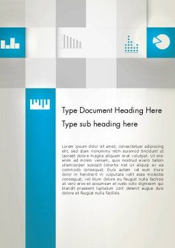 Modern Cube Theme Word Template, Cover Page, 12889, Business — PoweredTemplate.com