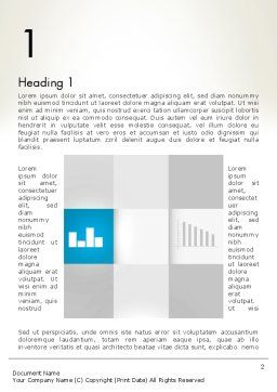 Modern Cube Theme Word Template, First Inner Page, 12889, Business — PoweredTemplate.com