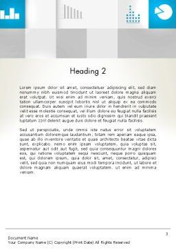 Modern Cube Theme Word Template, Second Inner Page, 12889, Business — PoweredTemplate.com