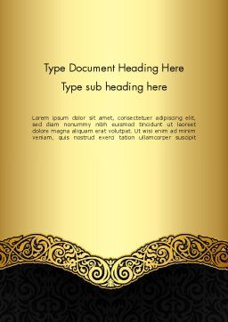 Ornamental Theme Word Template Cover Page