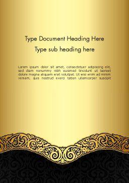 Ornamental Theme Word Template, Cover Page, 12890, Art & Entertainment — PoweredTemplate.com