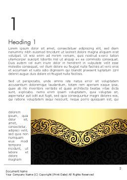Ornamental Theme Word Template First Inner Page