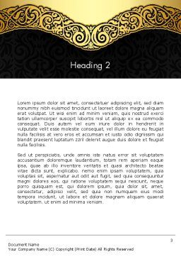 Ornamental Theme Word Template Second Inner Page