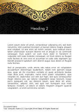 Ornamental Theme Word Template, Second Inner Page, 12890, Art & Entertainment — PoweredTemplate.com