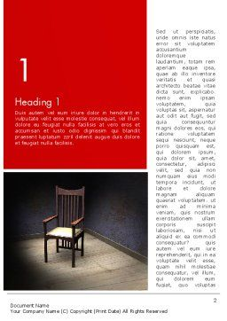 Chair in the Corner Word Template, First Inner Page, 12891, Medical — PoweredTemplate.com