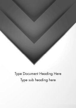 Gray Arrow Concept Word Template, Cover Page, 12896, Business — PoweredTemplate.com