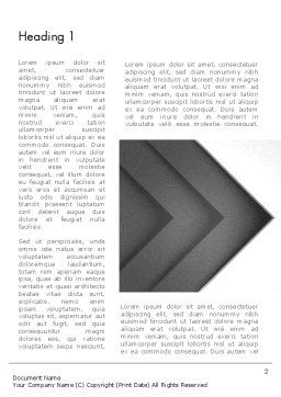 Gray Arrow Concept Word Template, First Inner Page, 12896, Business — PoweredTemplate.com
