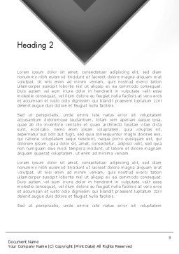 Gray Arrow Concept Word Template, Second Inner Page, 12896, Business — PoweredTemplate.com