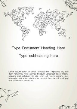 Word Map in Polygonal Design Word Template Cover Page