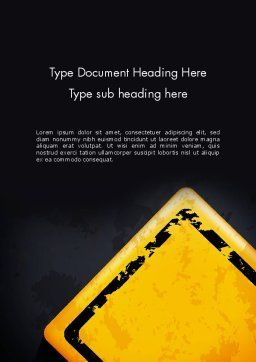 Warning Sign Word Template, Cover Page, 12900, Business Concepts — PoweredTemplate.com