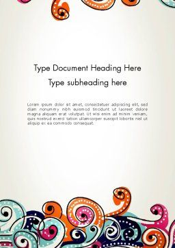 European Classical Pattern Word Template Cover Page