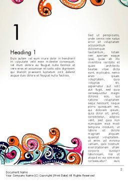 European Classical Pattern Word Template First Inner Page
