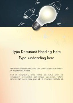 Powerful Idea Word Template Cover Page