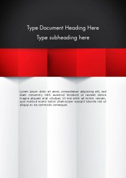Black Red and White Geometrical Word Template, Cover Page, 12904, Business — PoweredTemplate.com