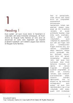 Black Red and White Geometrical Word Template, First Inner Page, 12904, Business — PoweredTemplate.com